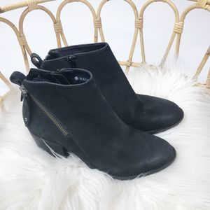 Blondo Nivada black leather booties sz 6